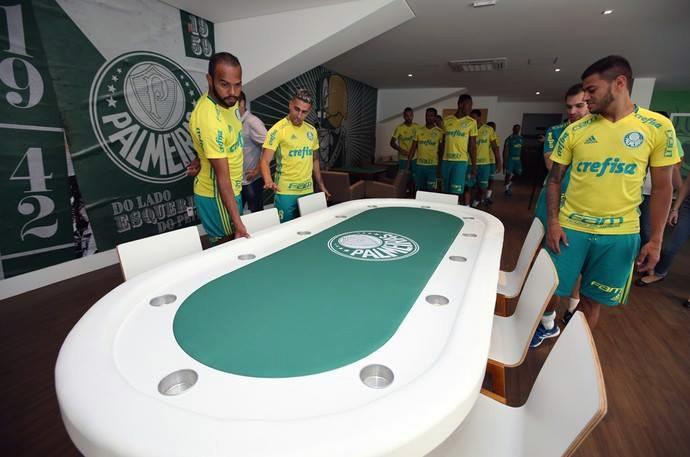 Novo centro de excelência do Palmeiras ganha mesa de poker/CardPlayer.com.br