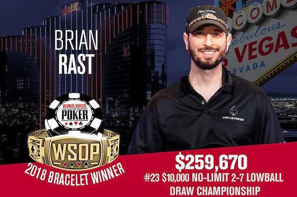 Brian Rast conquista o tetra na WSOP/CardPlayer.com.br