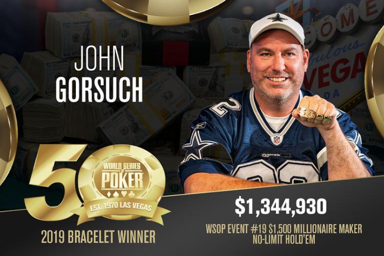 John Gorsuch vence Millionaire Maker da WSOP/CardPlayer.com.br