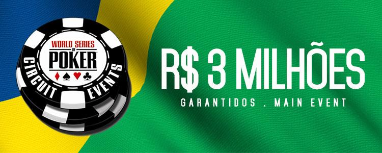 Main Event do WSOP Brazil terá premiação garantida de R$ 3 milhões/CardPlayer.com.br