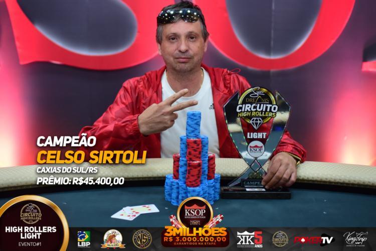 Celso Sirtoli crava Sun Dreams High Roller Light do KSOP Balneário Camboriú /CardPlayer.com.br
