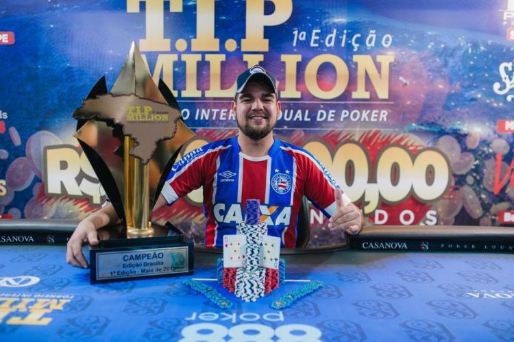 João Marcelo conquista o título T.I.P. Million/CardPlayer.com.br