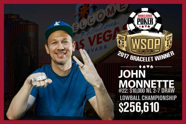 John Monnette conquista o seu terceiro título na WSOP/CardPlayer.com.br