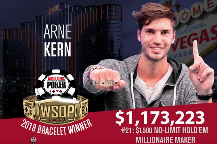 Arne Kern leva a melhor no Millionaire Maker da WSOP /CardPlayer.com.br