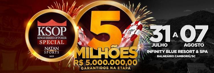 Etapa de aniversário do KSOP vai ter R$ 5 milhões garantidos/CardPlayer.com.br
