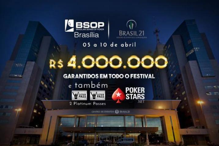 Retorno do BSOP a Brasília vai ter premiação garantida de R$ 4 milhões/CardPlayer.com.br