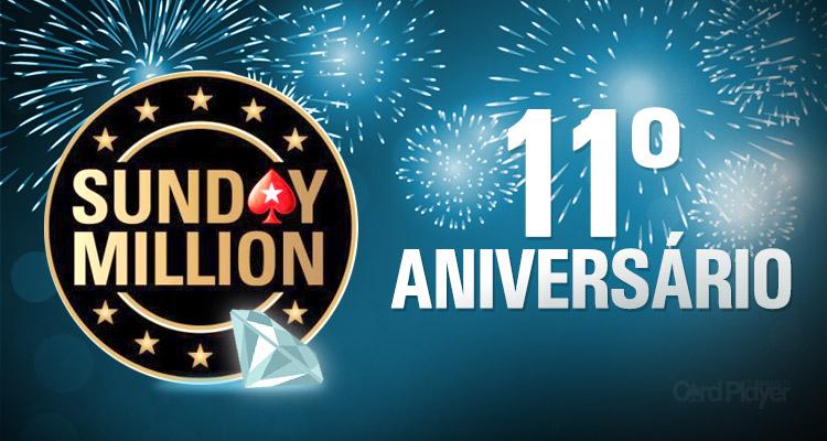 Sunday Million de Aniversário terá premiação garantida de US$ 10 milhões/CardPlayer.com.br