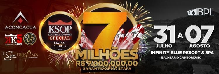 KSOP aumenta para R$ 7 milhões o garantido na etapa de Balneário Camboriú/CardPlayer.com.br
