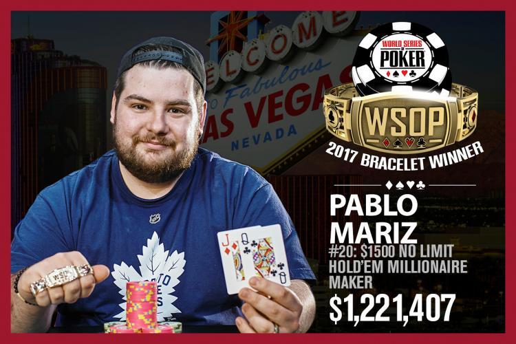 Pablo Mariz leva a melhor no Millionaire Maker da WSOP/CardPlayer.com.br