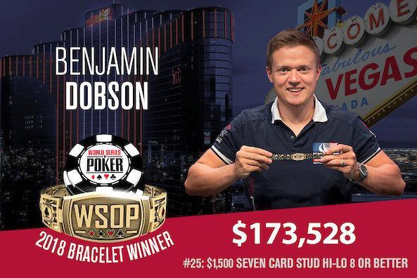 Benjamin Dobson vence Evento 25 da WSOP/CardPlayer.com.br