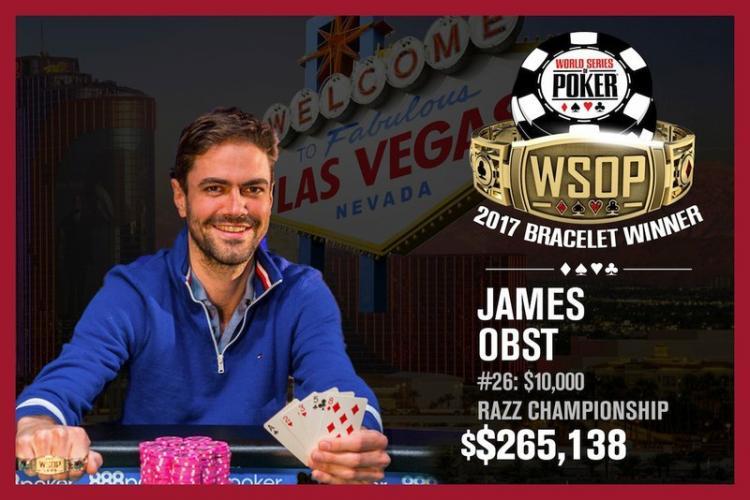 James Obst conquista o título do Evento 26 da WSOP/CardPlayer.com.br