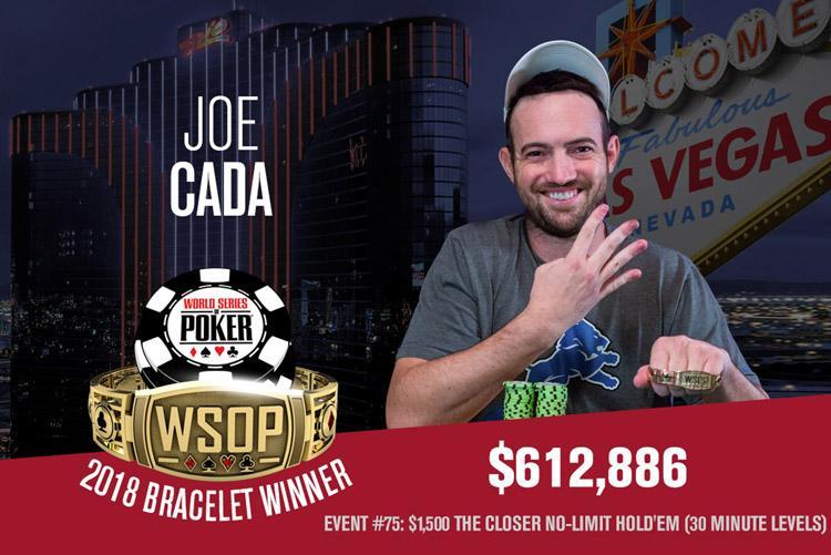 Joe Cada leva 4º bracelete depois de cair no Main Event/CardPlayer.com.br