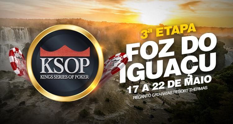 KSOP desembarca em Foz do Iguaçu. Confira o cronograma/CardPlayer.com.br