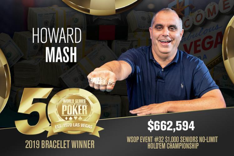 Howard Mash crava Seniors da WSOP/CardPlayer.com.br