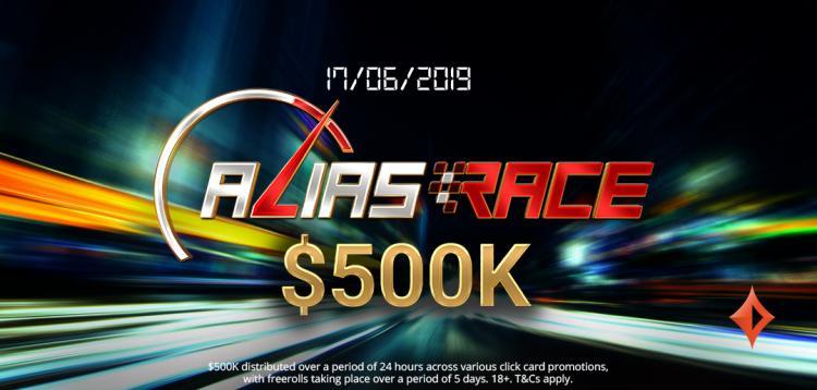 partypoker vai distribuir US$ 500 mil na promoção Alias Race/CardPlayer.com.br