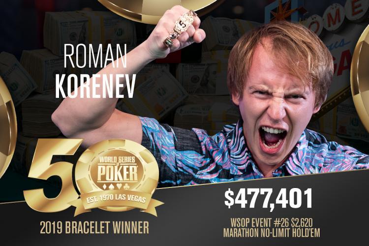 Roman Korenev é campeão do Marathon da WSOP/CardPlayer.com.br