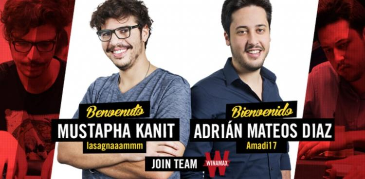 Winamax assina com Mustapha Kanit e Adrián Mateos /CardPlayer.com.br