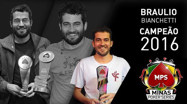 Braulio Bianchetti é o campeão mineiro de poker /CardPlayer.com.br