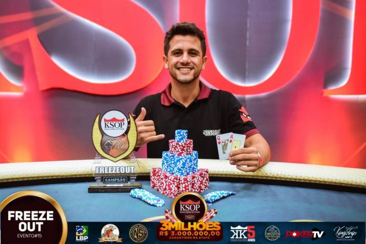 Eduardo Leite vence torneio freezeout do KSOP Balneário Camboriú/CardPlayer.com.br