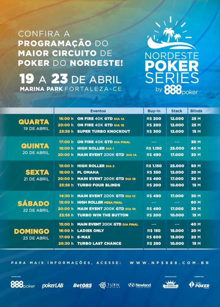 NPS Fortaleza começa na próxima quarta-feira/CardPlayer.com.br