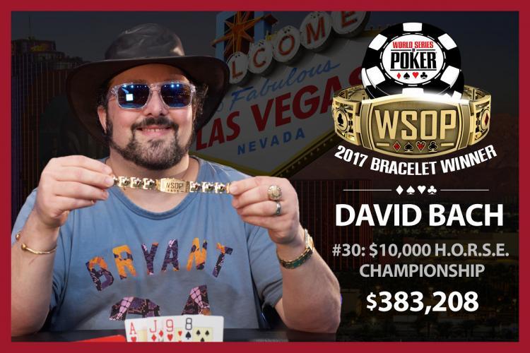 David Bach é o primeiro bicampeão da WSOP 2017/CardPlayer.com.br