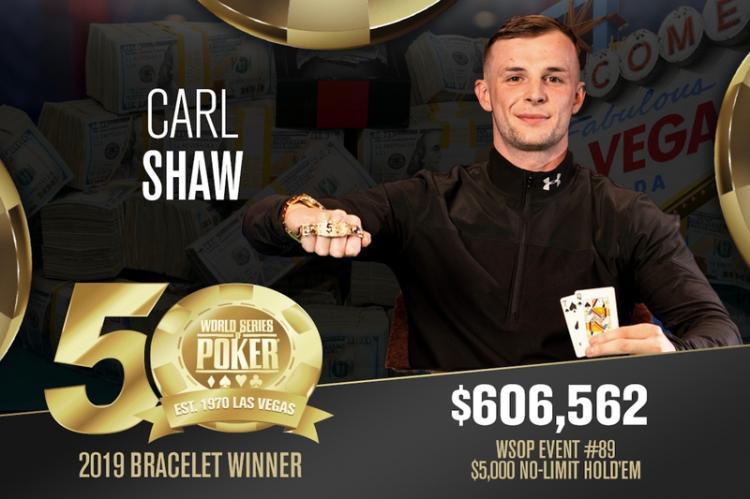 Carl Shaw é campeão do Evento 89 da WSOP/CardPlayer.com.br