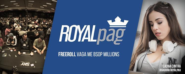 Jogue o Main Event do BSOP Millions cavalado pela RoyalPag/CardPlayer.com.br