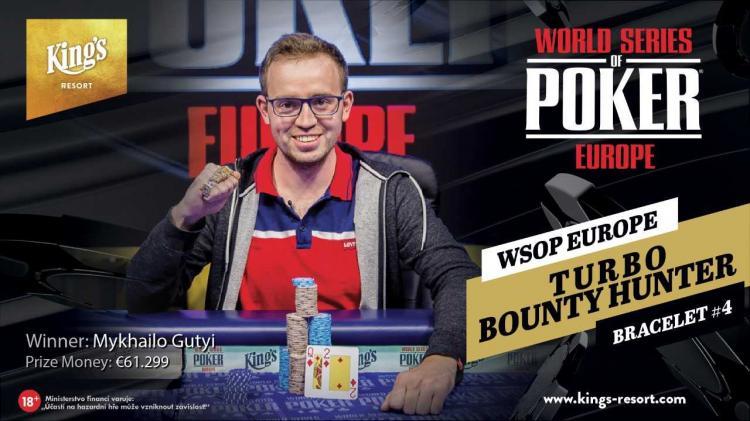 Mykhailo Gutyi leva a melhor no Evento 4 da WSOP Europa/CardPlayer.com.br