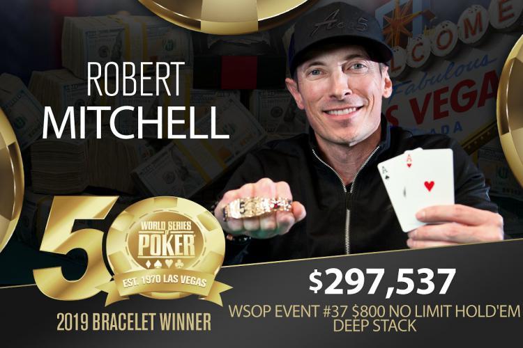 Robert Mitchell é campeão do Evento 37 da WSOP/CardPlayer.com.br