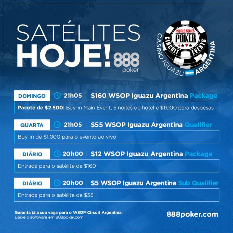 888poker realiza satélites exclusivos do WSOP Circuit Argentina para brasileiros e argentinos/CardPlayer.com.br