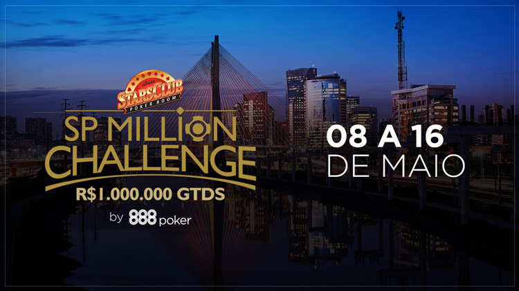 SP Million Challenge oferece premiação garantida de R$ 1 milhão  /CardPlayer.com.br
