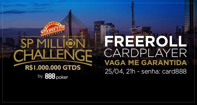 Jogue o Main Event do SP Million Challenge por nossa conta/CardPlayer.com.br