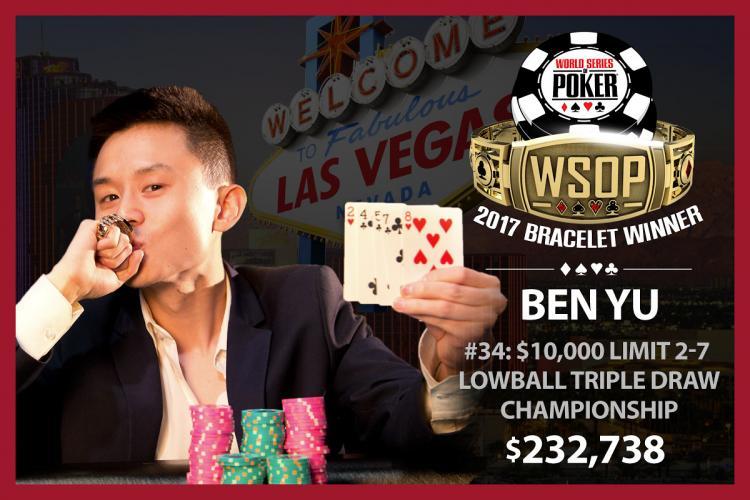 Ben Yu volta a vencer na WSOP/CardPlayer.com.br