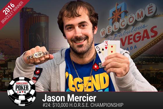Jason Mercier é o primeiro bicampeão da WSOP 2016/CardPlayer.com.br