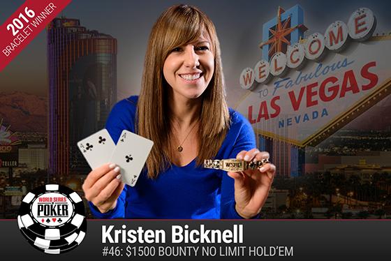 Kristen Bicknell fatura o primeiro bracelete do Canadá na WSOP 2016/CardPlayer.com.br