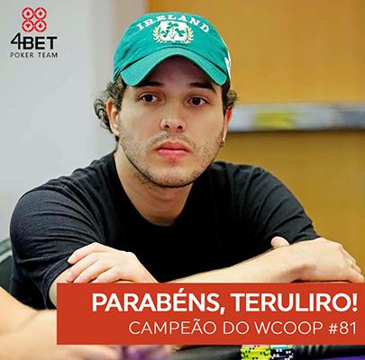 """Guilherme """"teruliro"""" Beavis conquista o primeiro título do Brasil no WCOOP 2016/CardPlayer.com.br"""