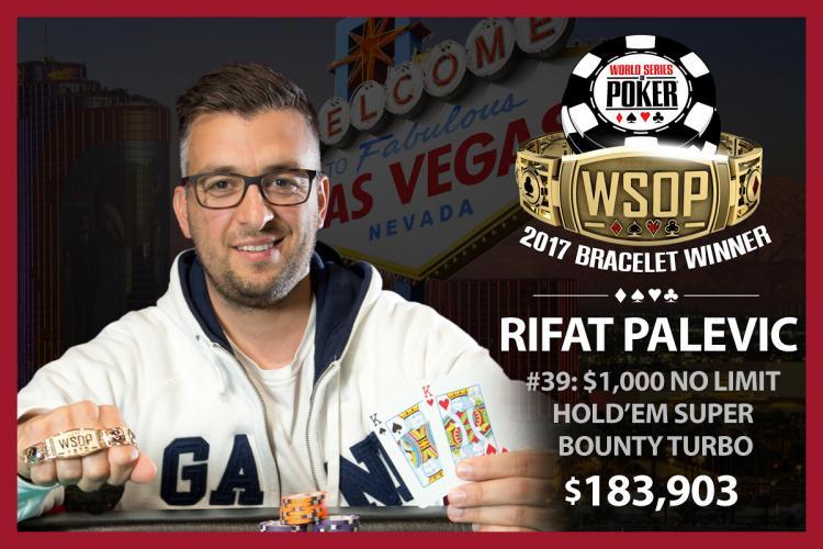 Rifat Palevic leva a melhor no Evento 39 da WSOP/CardPlayer.com.br