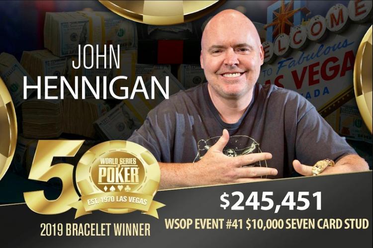 John Hennigan fatura o hexa na WSOP/CardPlayer.com.br