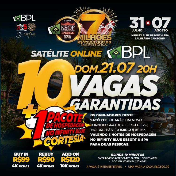 Satélite no Brasil Poker Live distribui dez vagas para o KSOP Special/CardPlayer.com.br