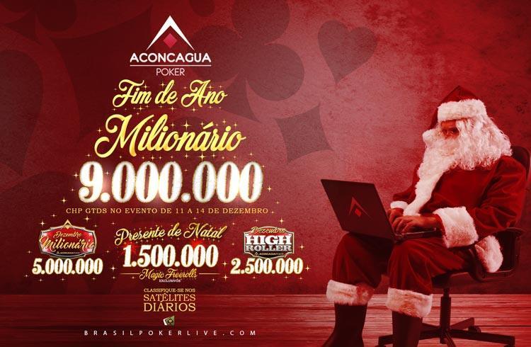 Dezembro Milionário do Aconcagua Poker tem premiação garantida de mais de R$ 1 milhão/CardPlayer.com.br