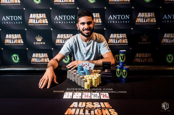 Muhammad Asad crava Opening Event do Aussie Millions/CardPlayer.com.br