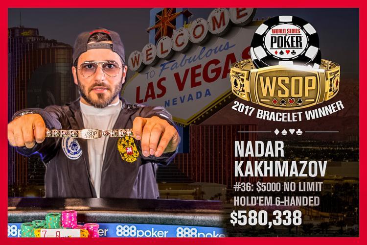 Nadar Kakhmazov conquista o título do Evento 36 da WSOP/CardPlayer.com.br