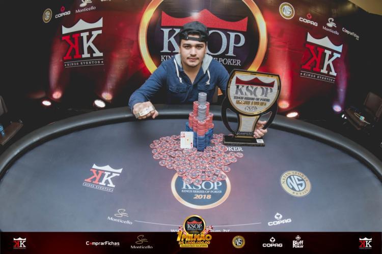 Johnatan Oliveira conquista o título do KSOP Foz do Iguaçu/CardPlayer.com.br