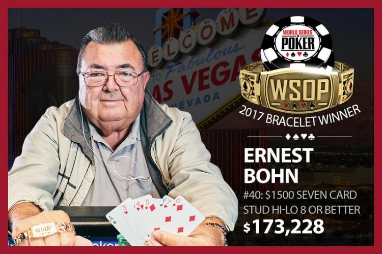 Ernest Bohn vence o Evento 40 e fatura o seu primeiro bracelete de ouro/CardPlayer.com.br
