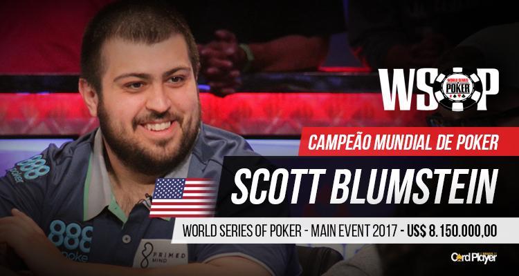 Scott Blumstein domina FT e é o novo campeão mundial de poker/CardPlayer.com.br