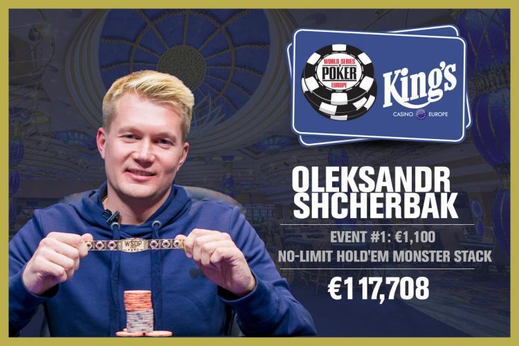 Oleksandr Shcherbak fatura o primeiro bracelete da WSOP Europa 2017/CardPlayer.com.br