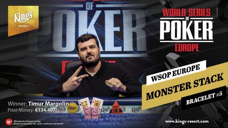 Timur Margolin é campeão do Monster Stack da WSOP Europa/CardPlayer.com.br