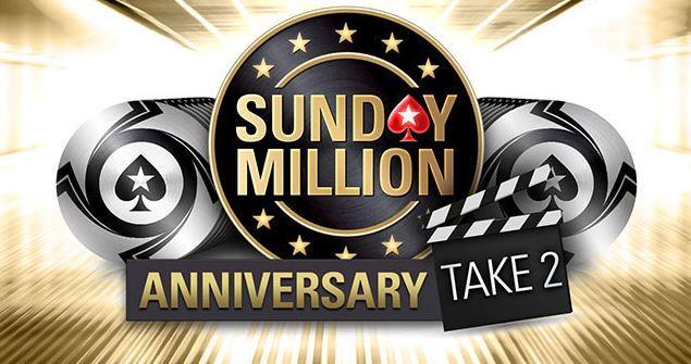 PokerStars anuncia nova edição do Sunday Million de Aniversário/CardPlayer.com.br