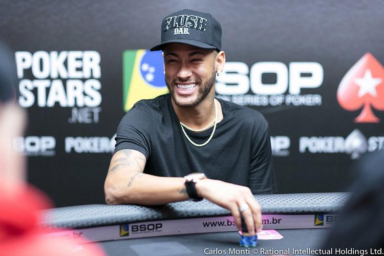 Neymar Jr. joga High Roller do BSOP e acumula um dos maiores stacks/CardPlayer.com.br