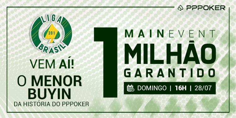 Liga Brasil no PPPoker realiza evento milionário com buy-in de apenas R$ 160/CardPlayer.com.br